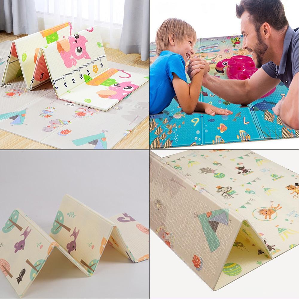 Tapis Portable pour enfants tapis de développement XPE bébé tapis de jeu bébé ramper Puzzles épaissi tapis pour enfants Puzzle en mousse 200*150 CM