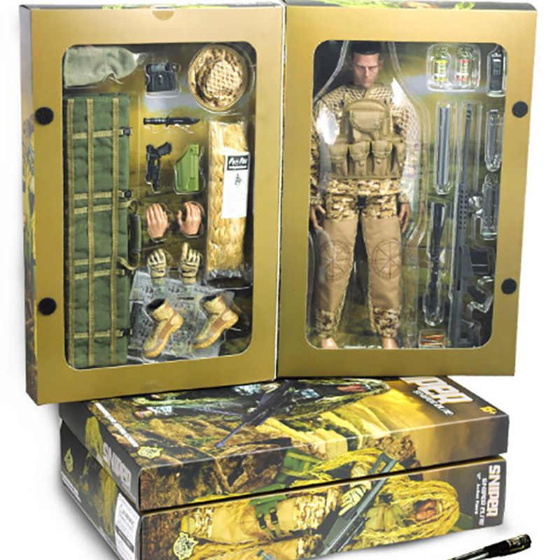 """1/6 escala militar do exército escala flexível deserto/selva atirador soldado figuras de ação boneca conjunto abs wargame modelo apto 12 """"brinquedos quentes"""