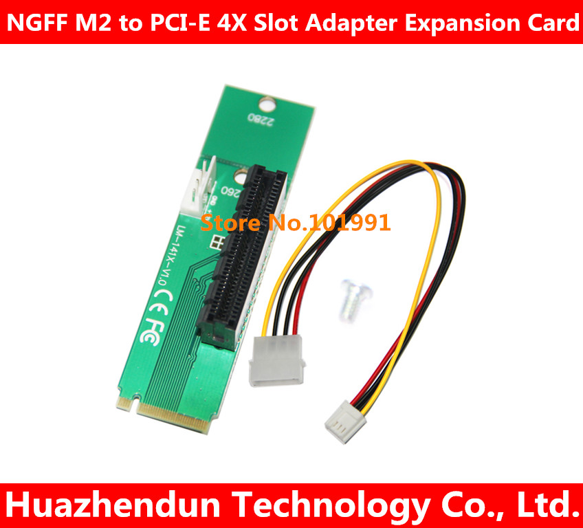 все цены на 20PCS/LOT Free Shipping NGFF M2 to PCI-E 4X Slot Adapter Card  M key M.2 port  SSD Port to PCI Express Expansion Card with cable онлайн