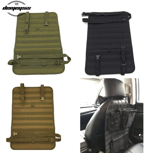Military Tactical Molle Car Seat Organizer Duable Outdoor Cover Protector Fits Back For
