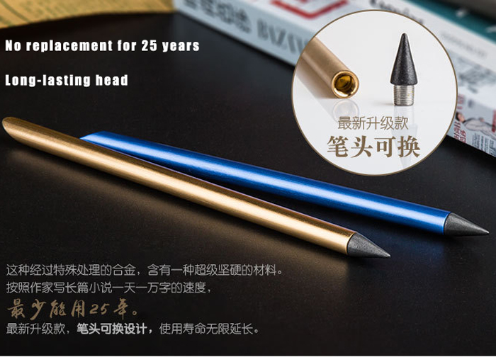 paint brush No ink Metal Golden fountain Pen Ink pen iron Pen Nib with 1nib Fineliner Pen Business Stationery Office Supplies