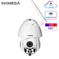 INQMEGA Cloud 4MP PTZ IP Camera Speed Dome WiFi Wireless Network CCTV Camera Outdoor Security Surveillance Waterproof Camera
