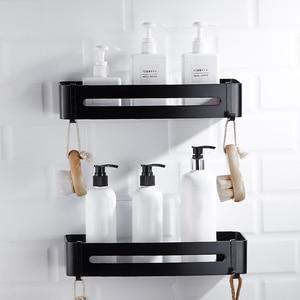 Image 1 - 1/2/3 Layer Antique Space Aluminum Corner Shelf Shower Shampoo Soap Cosmetic Shelves Shower Caddy Basket Black Bathroom Shelf