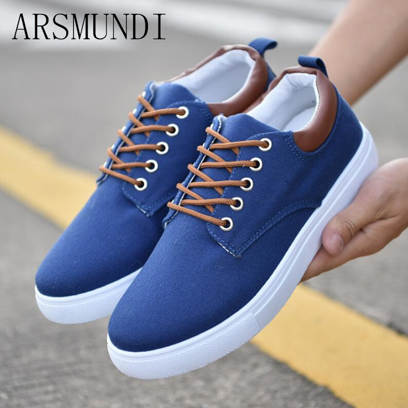 ARSMUNDI 2018 New Arrival Spring Summer Comfortable Casual Shoes Mens Shoes For Men Lace-Up Fashion Flat Loafers Shoe L47
