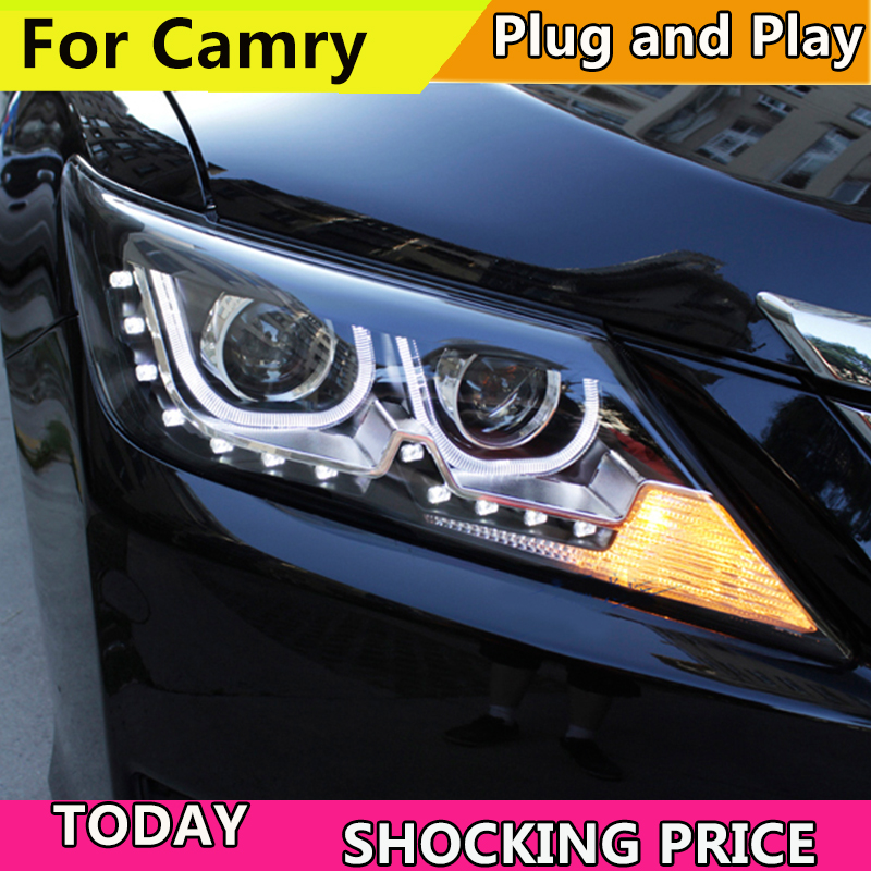Car Styling Head Lamp Case For Toyota Camry V50 Headlights 2012-2014 LED Headlight DRL H7 HID Xenon Low Beam цены