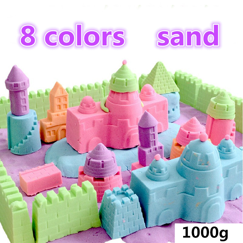 wholesale 1000G/bag Magic Play Sand Children toys Mars space sand Hot sale dynamic educational Amazing No-mess Indoor dayan gem vi cube speed puzzle magic cubes educational game toys gift for children kids grownups