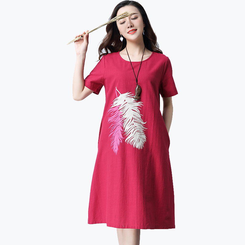 2018 new cartoon cotton women dress vestidos preppy style casual simple loose dresses cute puff sleeve frocks