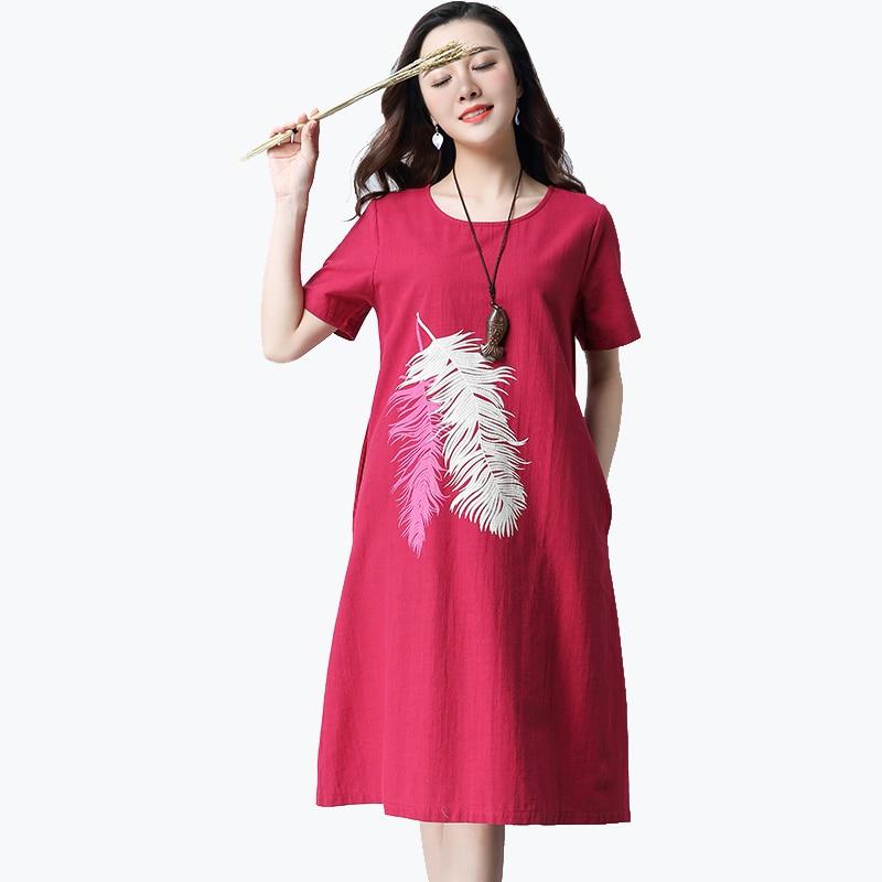 2018 new cartoon cotton women dress vestidos preppy style casual simple loose dresses cute puff sleeve frocks