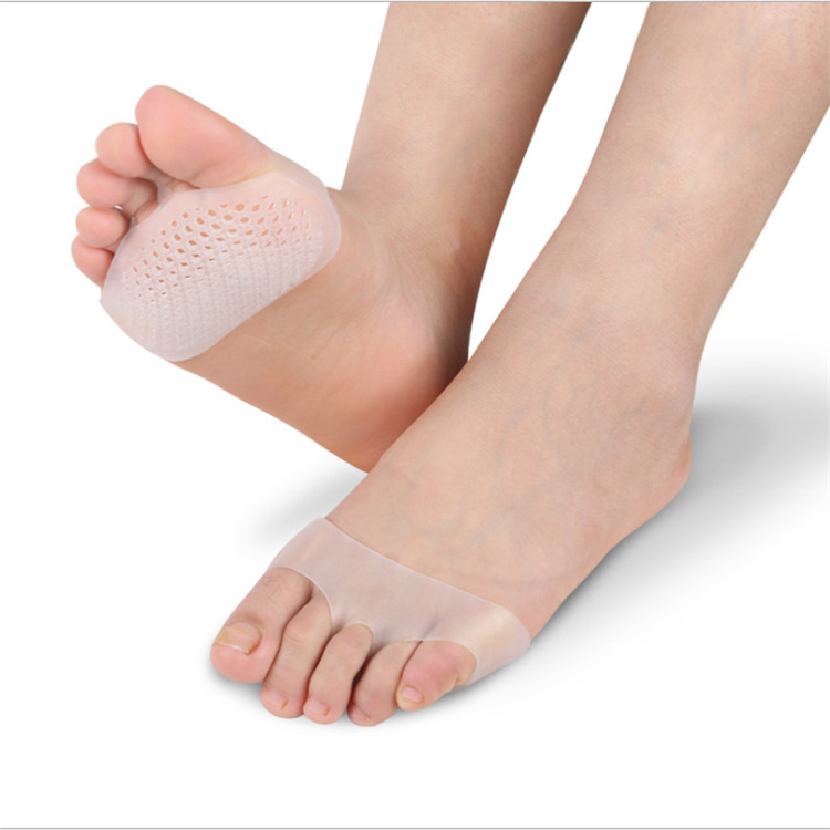 1 Pair Women Gel Silicone Insoles For Shoes High Heel Breathable Anti Slippery Feet Pain  Forefoot Pad Shoes