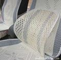 2016 hot Chair Car Seat Massagem Voltar Apoio Lombar Malha Ventile Cushion Pad Preto, Malha Branca Lombar Coxim do carro travesseiro