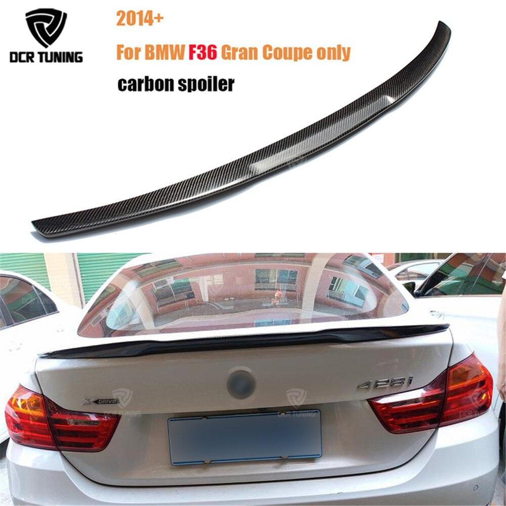 Pour BMW F36 Carbone Arrière Spoiler M4 Style 4 Série 4 Porte Gran Coupé Carbone Spoiler 2014 2015 2016- UP 420i 420d 428i 435i