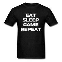 Classic Zen Cita Tshirt Studente Della Stampa Della Lettera Graphic T Shirt Eat Sleep Gioco Ripetere Youth T-Shirt 100% Parti Superiori del Cotone Biologico Tees