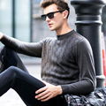 New Arrive Spring And Autumn Men Sweater 100% Wool Sweater Thickening Male Sweaters