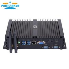 Partaker I3 Fanless Mini PC i7 4500U Industrial Mini Computer 24 Hours Working 2 COM HDMI