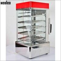 XEOLEO 5 Lagen Voedsel Stoom machine Commerciële Elektrische Stoomboot 900W Voedsel warm kabinet 76L Roestvrij staal Voedsel warmer kast-in Elektrsiche Voedselstomers van Huishoudelijk Apparatuur op