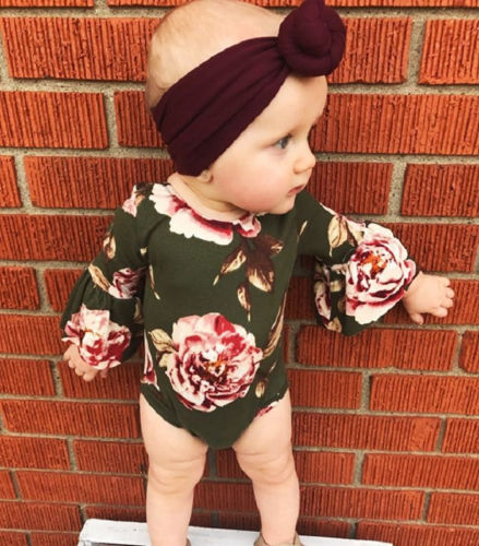Stylish Floral Flower Pattern Romper for Baby Girl