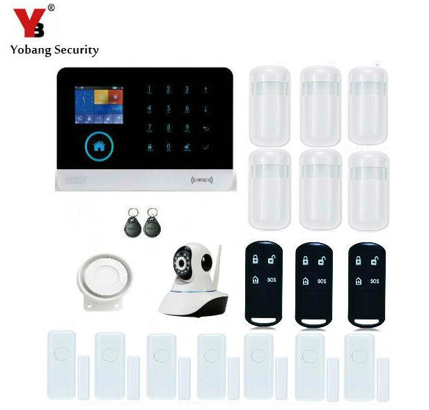 Yobang Security- WIFI GSM RFID Arm/disarm Security Alarm System HD Network IP Camera Close/Open Magnetic Door Sensor Alarma