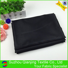 Quick Shipping 100% Polyester Silky Shiny Black Satin Fabric for Lining