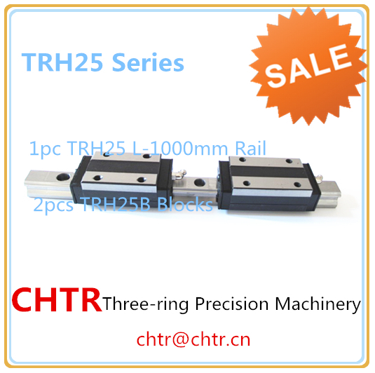 Chinal Low Price CNC Linear Motion Guide Rail Linear Slide Track 1pcs TRH25 L 1000mm+2pcs TRH25B Blocks стоимость