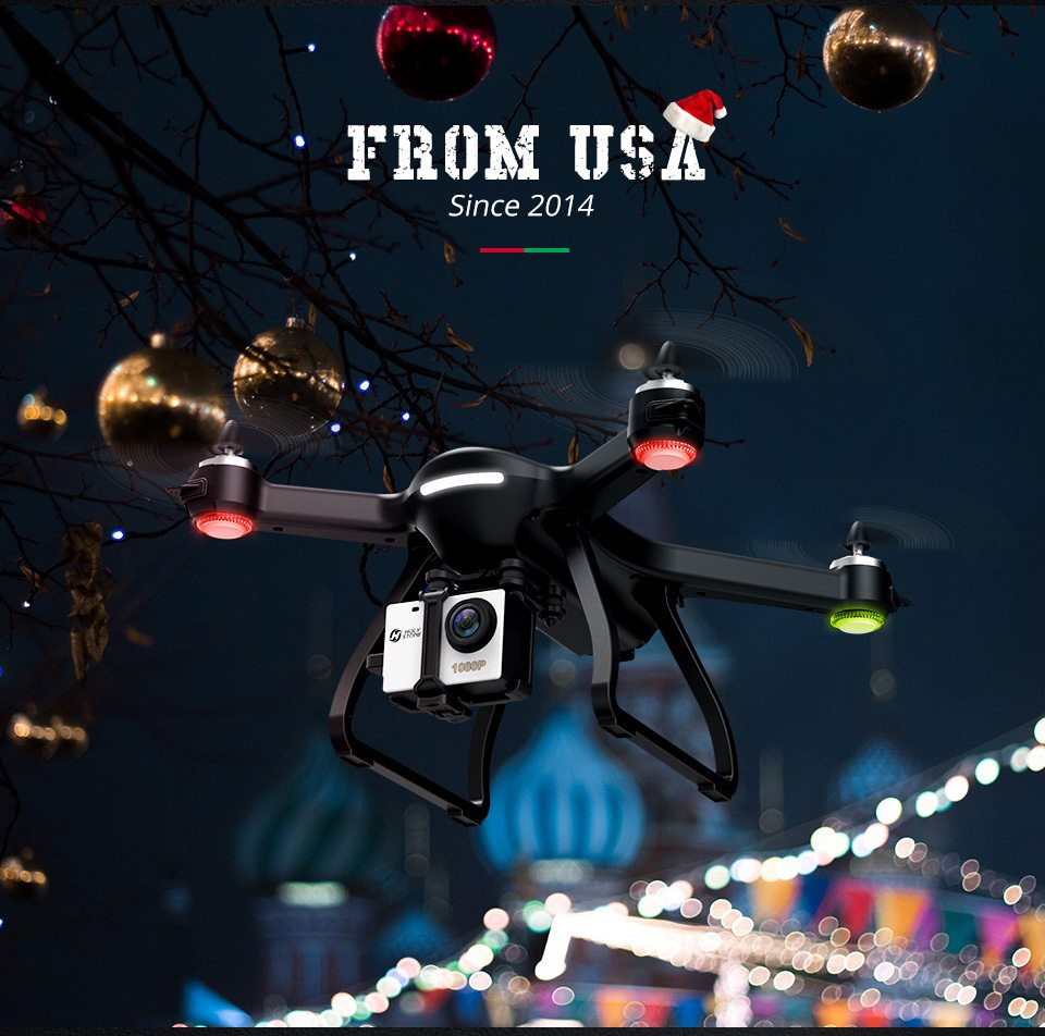 [USA EU Stock]Holy Stone HS700 1000m Range mins Flight Brushless Motor 5GHz 400m Wifi GPS FPV FHD 19*1080P 2800mAh GPS Drone 5