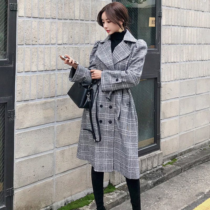 new arrival high quality women fashion comfortable thick warm   trench   coat professional temperament outdoor fresh OL long   trench