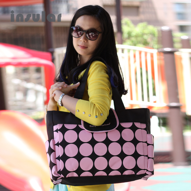 Insular Retro Polka Dot Baby Diaper Bags Handbags Multi-Function Maternity Mummy Changing Bag Big Capacity Nappy Bags