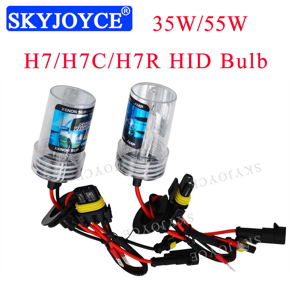 New AC 12V 35W 55W H7 H7C H7R HID Xenon Bulb 6000K 4300K 5000K 8000K Metal Base Coating Layer Car Headlight H7 H7C H7R HID Bulb