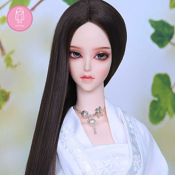 Wig For Doll BJD 1/3  handmade diy long Straight hair brown black colors Hair For Charge Extra  L07#22-24cm Doll Accessories 1