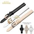 Pulsera de moda de cuero genuino reloj de correa de reloj de pulsera banda pequeño 10mm 14mm de color rosa para AR1681 80 78
