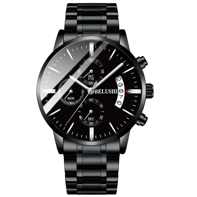 Men's watch luxury brand BELUSHI high-end man business casual watches male waterproof sports quartz wristwatch relogio masculino 4