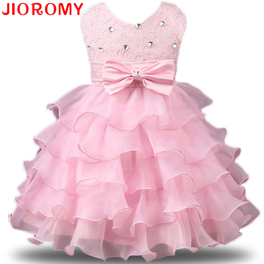 2017 Kids Prom Party Gowns Designs Children Clothes Kids Formal Dresses For Girls Wedding Lace ...