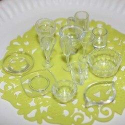 33 teile/los platte tasse teller schüssel geschirr set Puppenhaus Miniatur Spielzeug Puppe Lebensmittel Küche wohnzimmer Zubehör 1:12 Skala