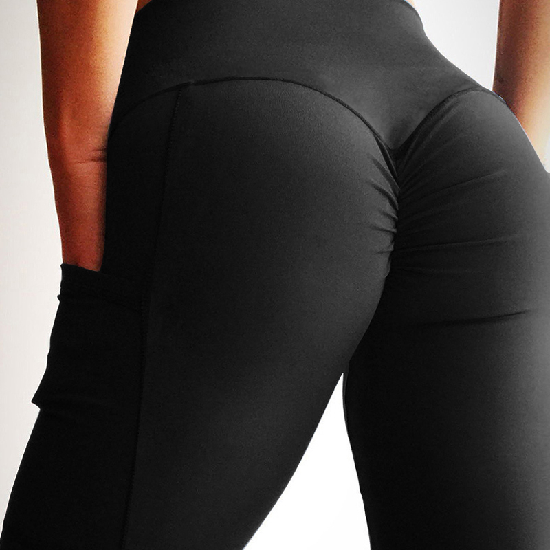 NORMOV New Women Leggings High Waist With Pockets Patchwork Ankle-Length Leggings Sexy Workout Female Fitness Jeggings
