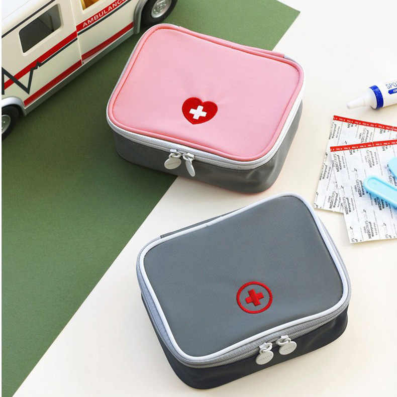 Mini Outdoor First Aid Kit Bag Travel Portable Medicine Package Emergency Kit Bags Medicine Storage Box Bag Small Organizer