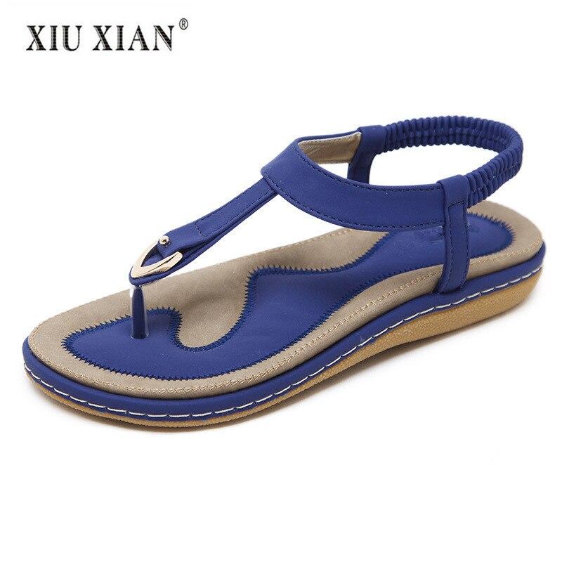 Nouveau Simple Européenne Femmes String Sandales Épais Flexible Confort En Plein Air Plage Chaussures 2018 Vente Chaude Grande Taille Printemps Été Sandales