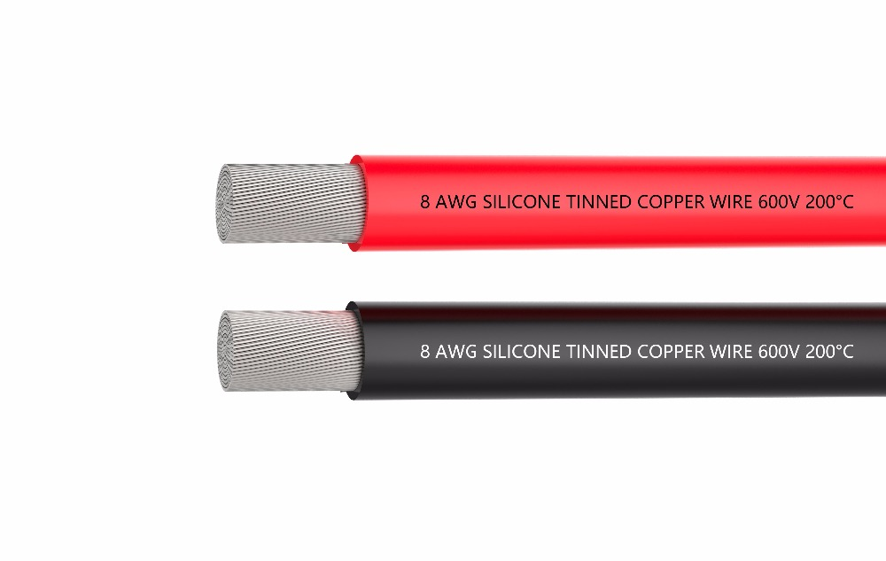 8 AWG Electrical Wire Battery Cable [1.5 m Black And 1.5 m Red] 8AWG-1650 Strands of Tinned Copper Wire , solder through quickly