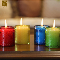 Wedding Glass Candle Smoke Free Fragrance Waterproof Candles Scented Romantic Candle Decoration Bougies General Tools WKK019
