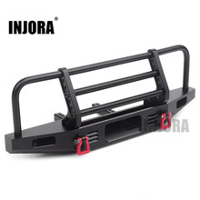INJORA Regolabile Frontale In Metallo Del Respingente per 1/10 RC Crawler Traxxas TRX4 Defender Assiale SCX10 SCX10 II 90046 90047(China)