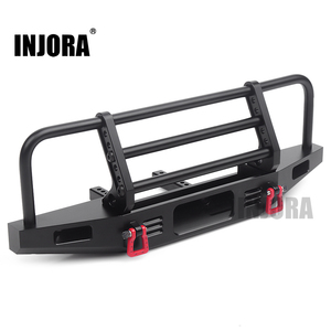 Image 1 - INJORA Adjustable Metal Front Bumper for 1/10 RC Crawler Traxxas TRX4 Defender Axial SCX10 SCX10 II 90046 90047