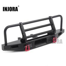 Injora Verstelbare Metalen Voorbumper Voor 1/10 Rc Crawler Traxxas TRX4 Defender Axiale SCX10 SCX10 Ii 90046 90047