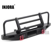 Pare chocs avant en métal réglable INJORA pour chenille 1/10 RC Traxxas TRX4 Defender Axial SCX10 SCX10 II 90046 90047