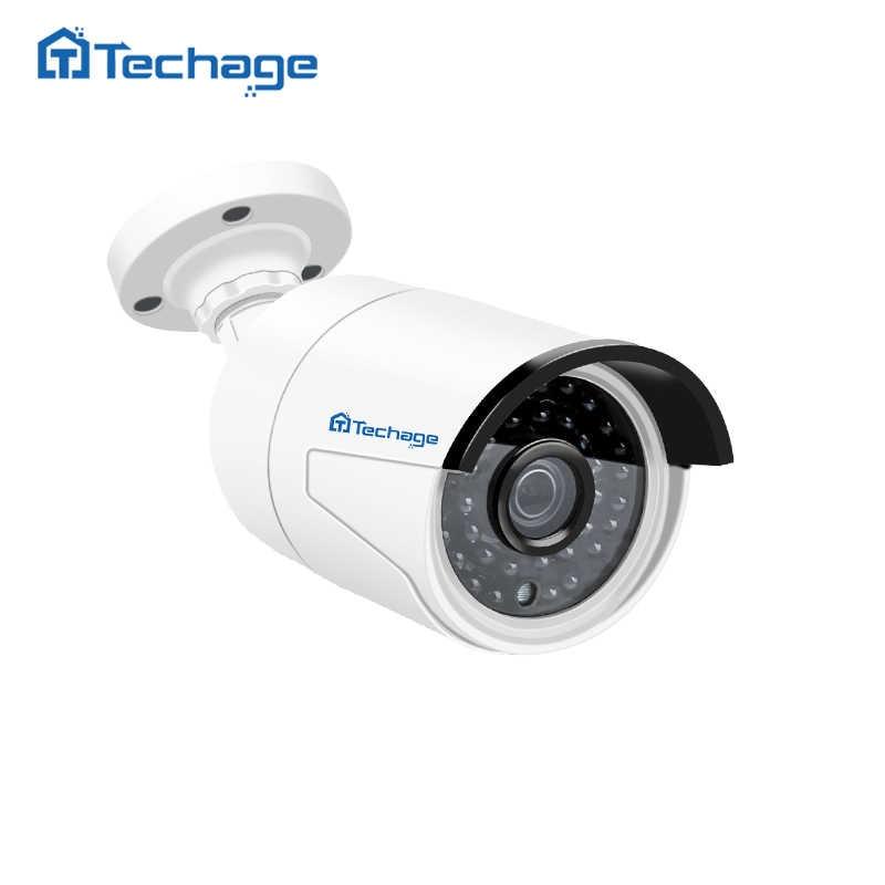 Techage H.265 4MP HD 48V POE IP كاميرا في الهواء الطلق للماء تحت الحمراء للرؤية الليلية ONVIF CCTV الأمن فيديو مراقبة كاميرا