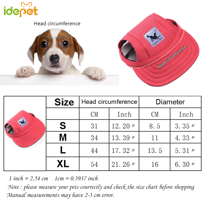 Sun Hat For Dogs Fashion Cute Pet Hund Casual Bomuld Baseball Cap - Pet produkter - Foto 6
