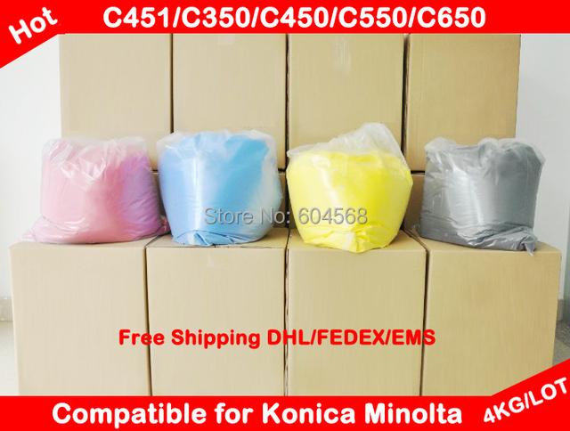 Compatível para Konica Minolta Bizhub c451 / c350 / c450 / c550 / c650 / 451 / 350 / 450 / 550 química cor de Toner em pó frete grátis