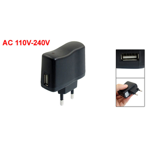 Image 2 - AC 110V 240V to DC 5V 0.5A 500mA USB to EU Plug Power Adapter Charger
