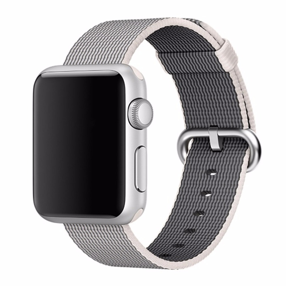 CRESTED Woven Nylon watchband for apple watch band strap 38mm/42mm Wrist Bracelet Sport Fabric-feel belt for iwatch 2/1/Edition canvas sport apple watch belt nylon 42mm apple watch strap watchband for iwatch apple watch with adapter