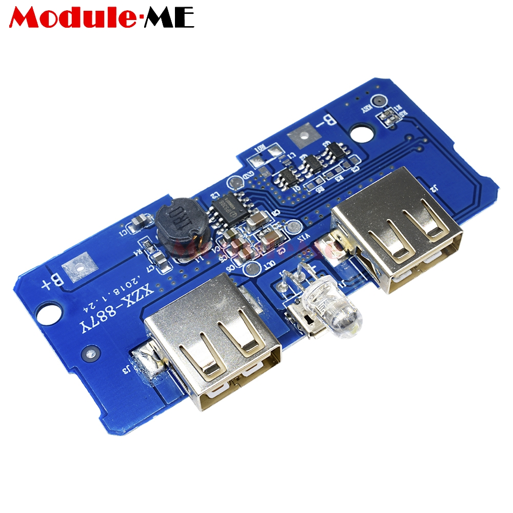 Dual Usb 5v 2a Step Up Power Bank Charger Board Module Charging And Adapter Circuit Free Electronic Circuits Boost Supply Output 1a Input In Integrated From