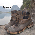 ARCX Motorcycle Ankle Boots Moto Vintage Morocicleta Waterproof Warm Botas Motocross Genuine Leather Outdoors Leisure Chuteiras