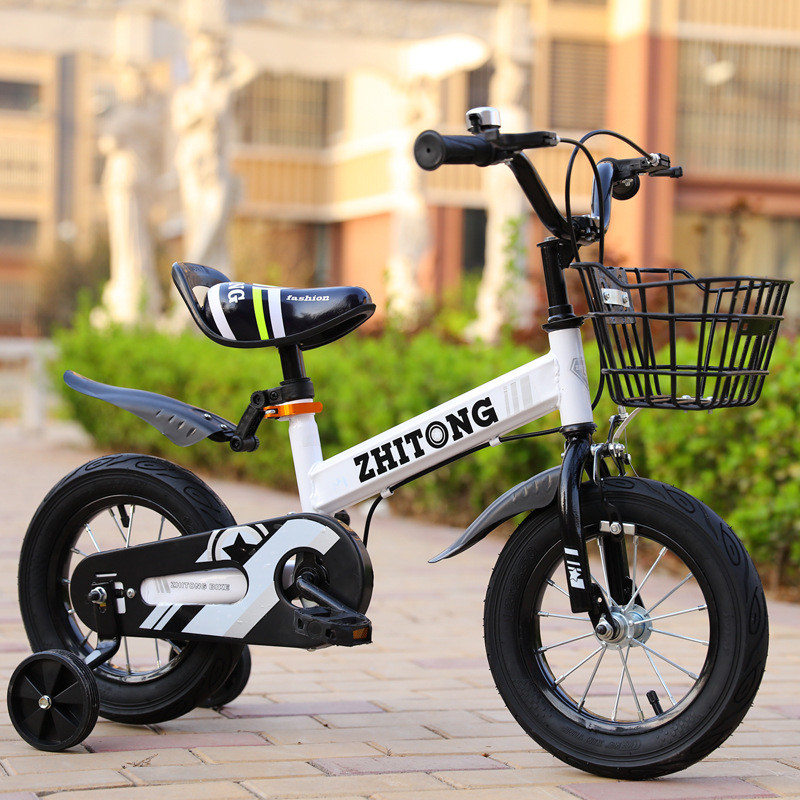 HTB14RCASY2pK1RjSZFsq6yNlXXaM 2019 hot sell Wisdom children bicycle boy 12/14/16 inch 2-9 years old baby bicycle stroller men and women children single