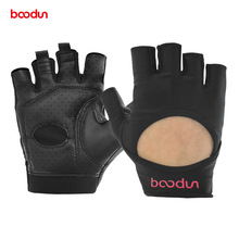 Womens Fitness Gloves with Palm PU Leather Half Finger Breathable Gym Crossfit Bodybuilding Dumbbell Accessories
